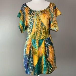 Free People colorful tunic dress